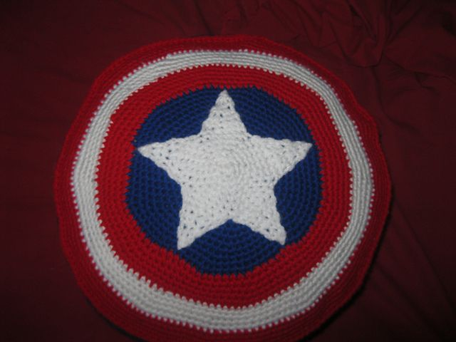 Captain America Pillow pattern by Marissa Montgomery