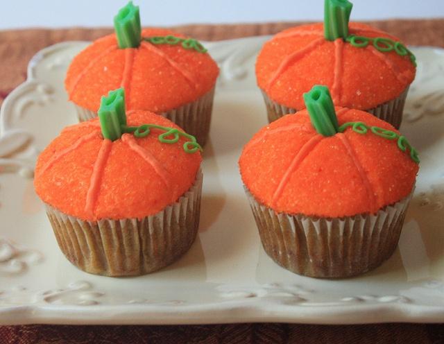 Pumpkin Cupcakes | Little pumpkin baby shower | Pinterest