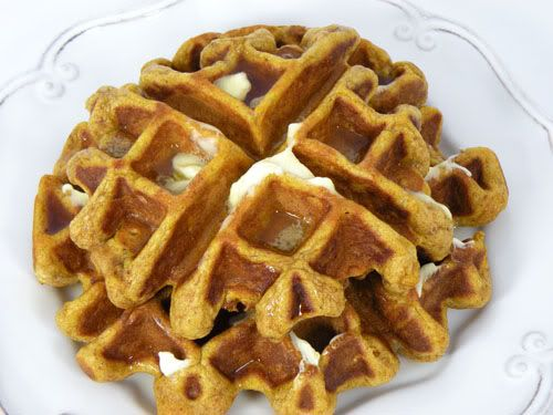Pumpkin Waffles ~made for breakfast this morning. I used buttermilk ...