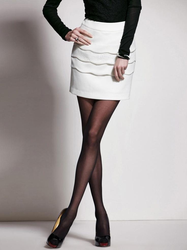 Romance Slim Layering Water-Ripple Lace Semi-Skirt @Merpher. L