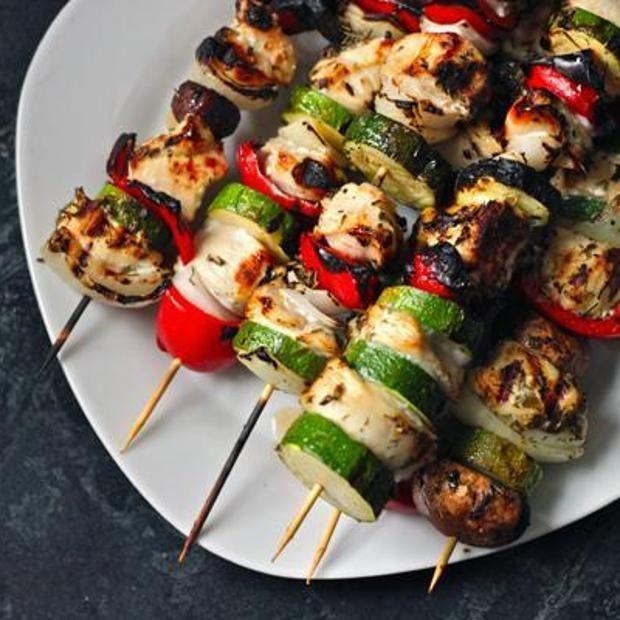 Grilled Chicken Kabobs. | Recetas Deliciosas | Pinterest