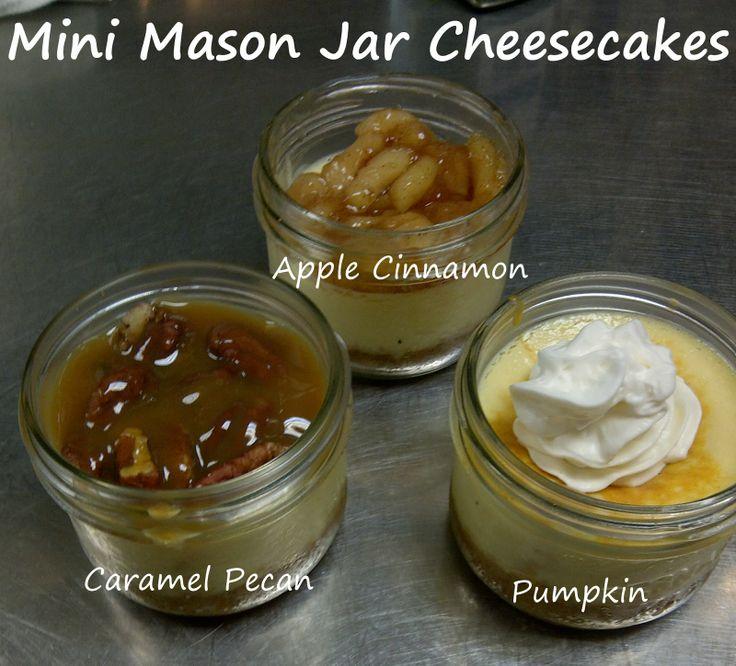 Thanksgiving Mini Mason Jar Cheesecakes