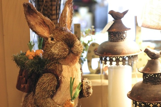 Bristly easter bunny home decor pinterest for Rabbit decorations home