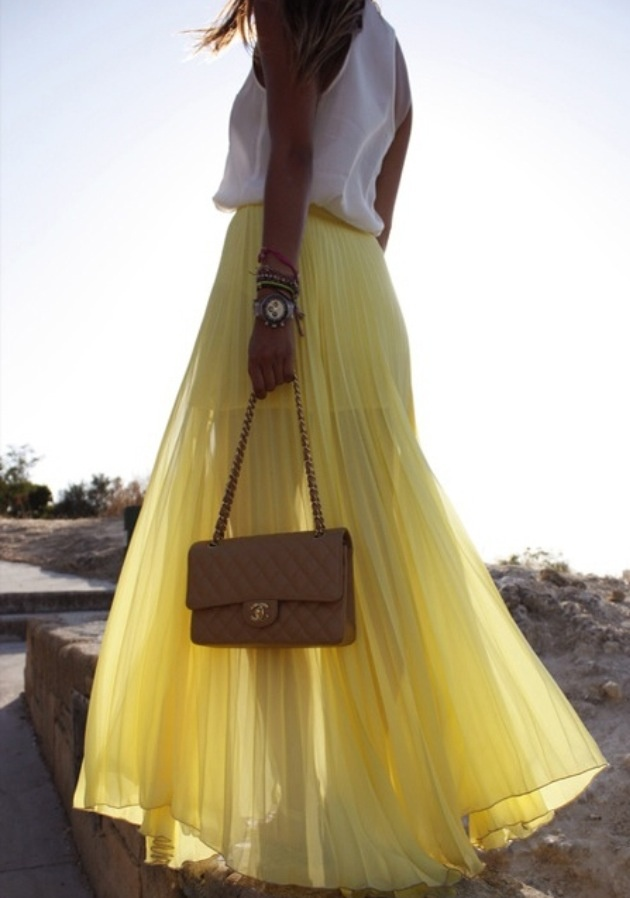 Yellow maxi skirt the style of sami pinterest