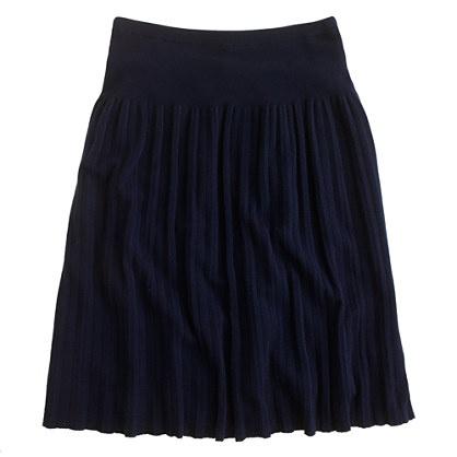 pleated sweater skirt closet