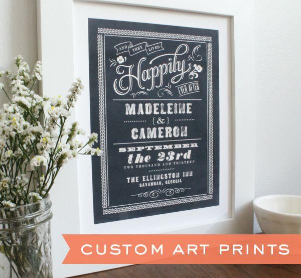 Art For Wedding Gift : Chalkboard Wedding Art Prints & tons of other stylish prints