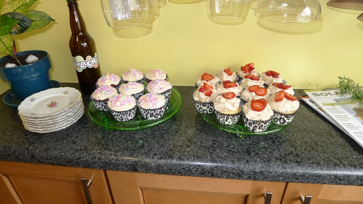 ... strawberry shortcake cupcakes with balsamic whipped cream frosting