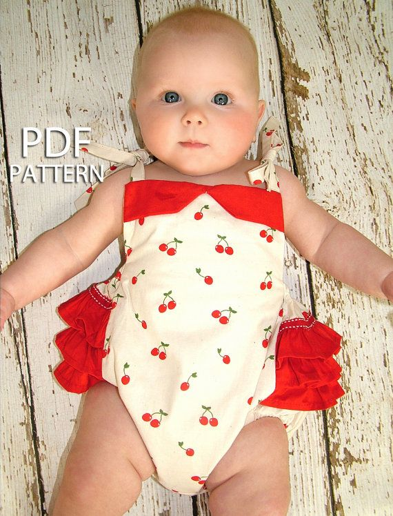 Romper pattern for baby girl, Sewing pattern PDF baby toddler, Instant Download, Baby clothes, Children sewing pattern, The Isabella Romper via Etsy