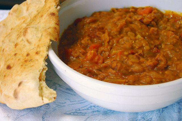 naan + red lentils by rachel.grace (2 hours in slow cooker or 45 mins ...