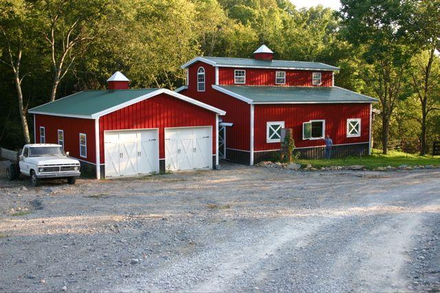 Barn shape national barn company shed pinterest for Barn shaped garage