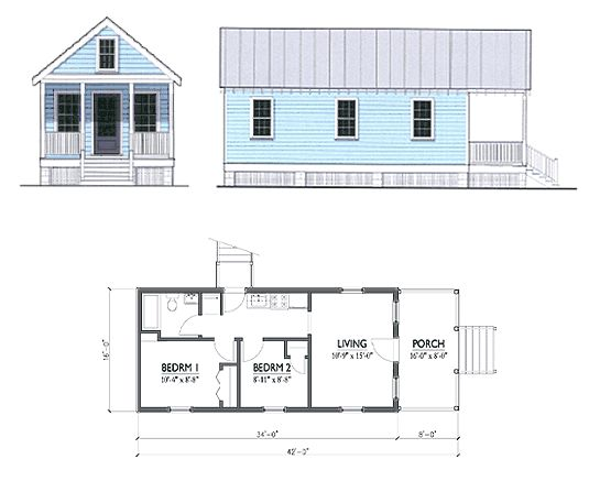 Katrina Cottage Floor Plans Katrina Cottage Pinterest