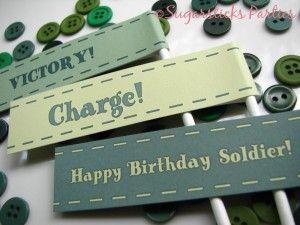 army birthday free printables
