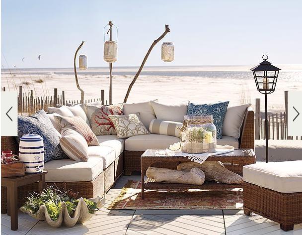 Lovely Beach Cottage Patio My Dream Home Ideas Pinterest