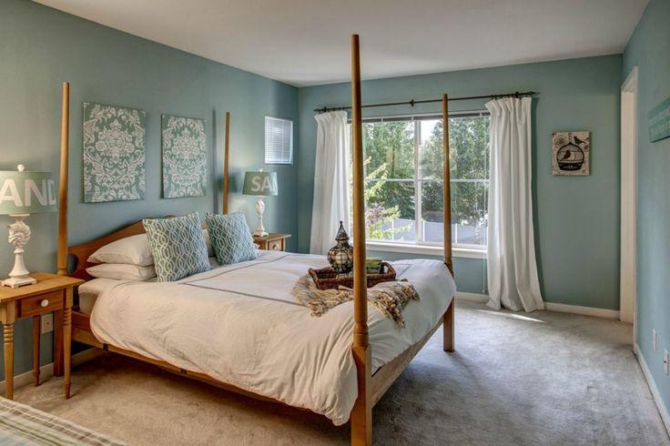White And Blue Bedroom Master Bedroom Pinterest