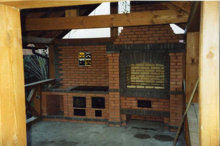 Летняя кухня с мангалом своими руками фото