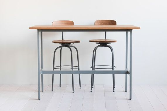 Holiday Sale Bar Table And Stools White Oak And Steel Gray