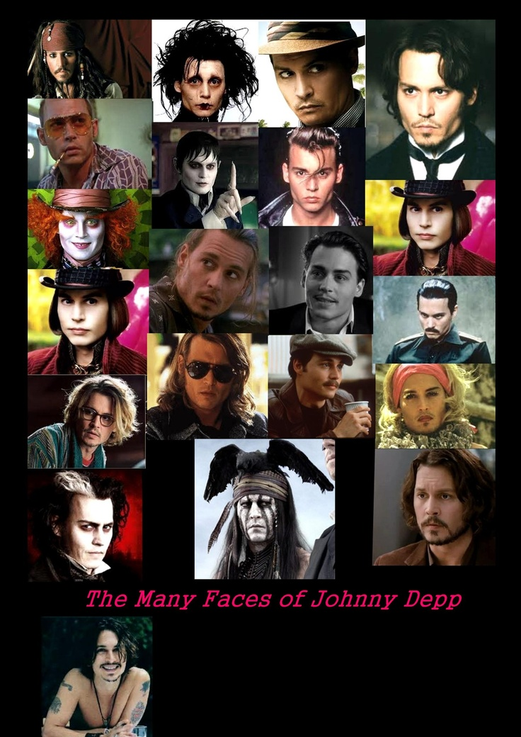 The many faces of Johnny Depp from Fear and Loathing in Las Vegas to Pirates of the Caribbean