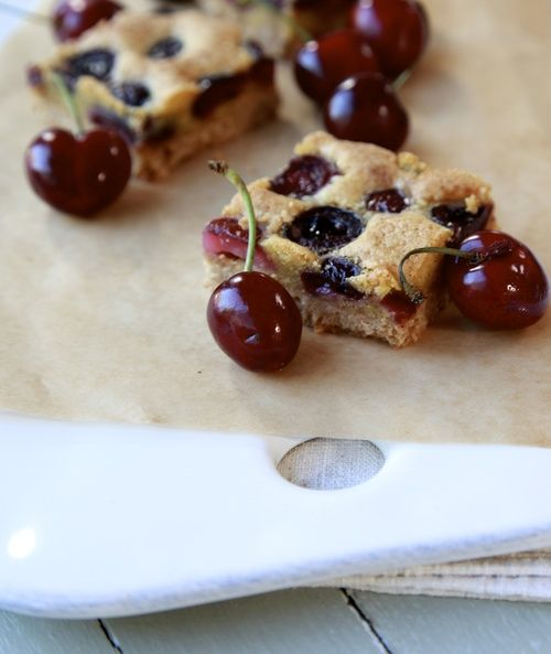 Brown Butter Cherry Squares | {sweet addiction} | Pinterest