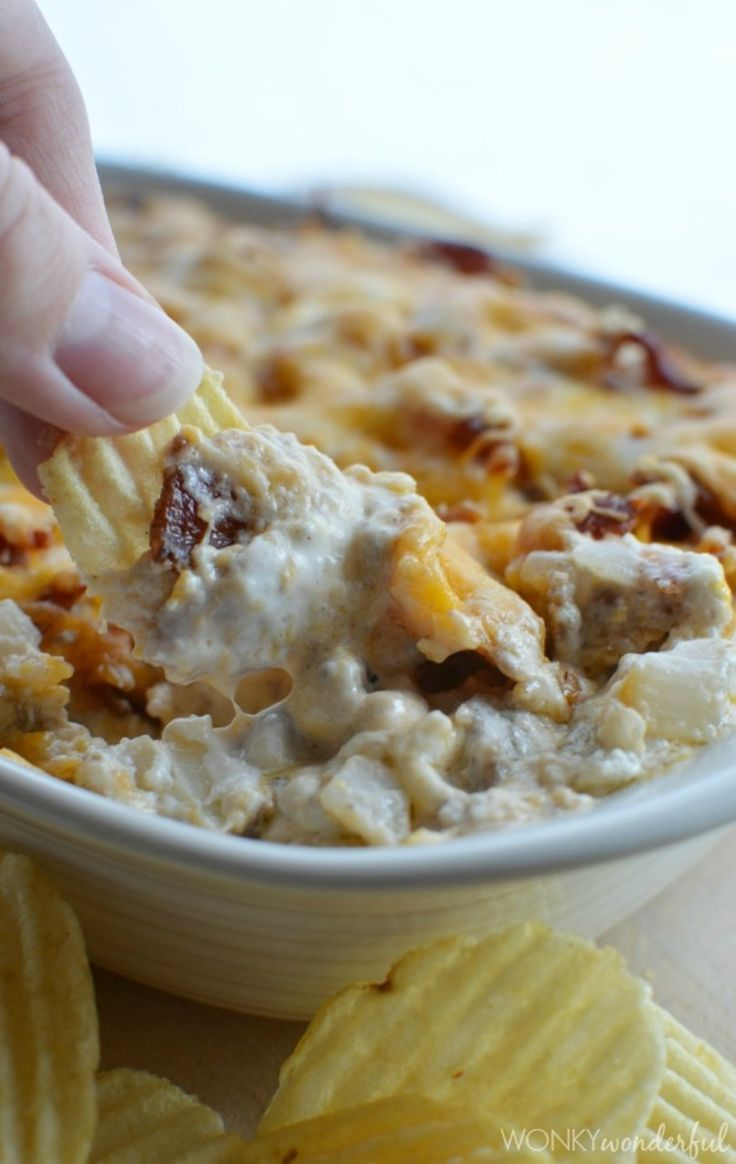 Bacon Double Cheese Burger Dip Recipe — Dishmaps