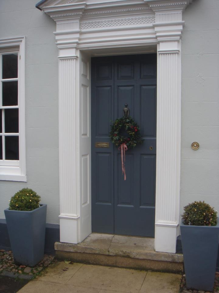Wreath With Door In Down Pipe Festive Front Doors