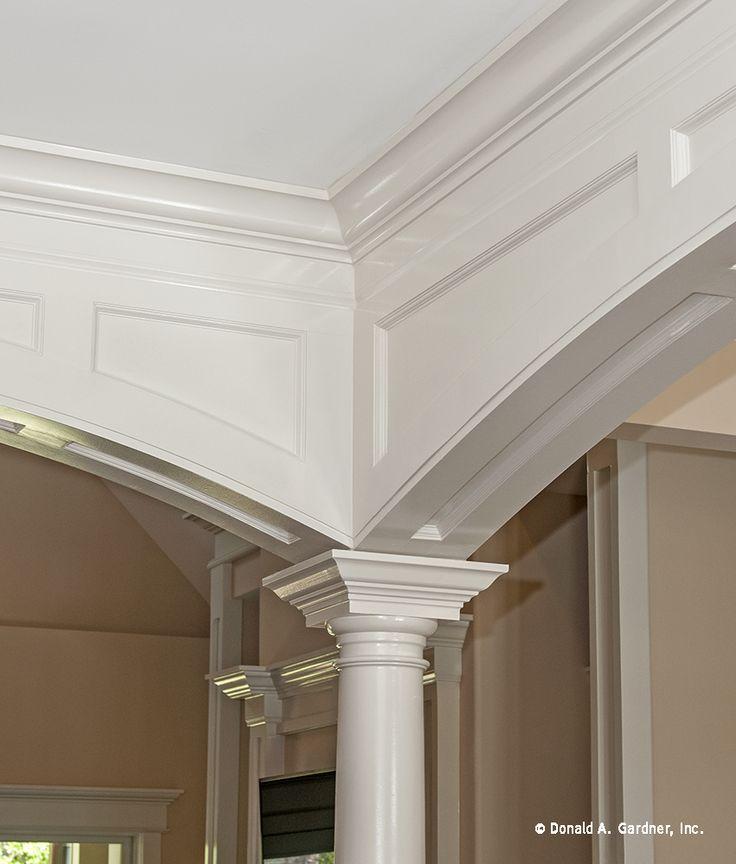 Custom trimwork inside the Sagecrest House Plan 1226