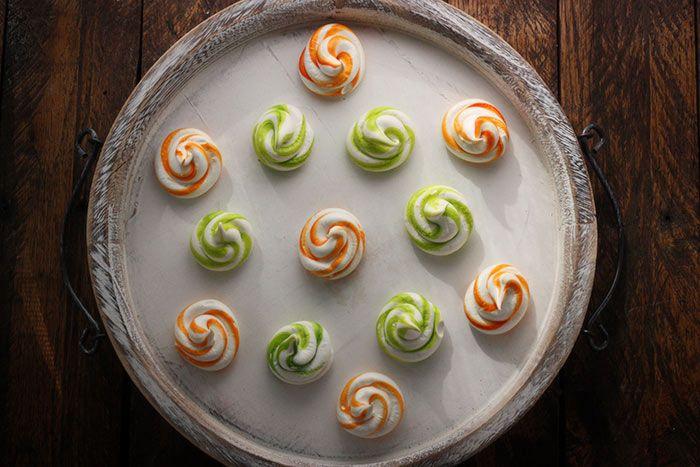 Tangerine Dream Meringue Swirls - delicate swirls of color decorate ...