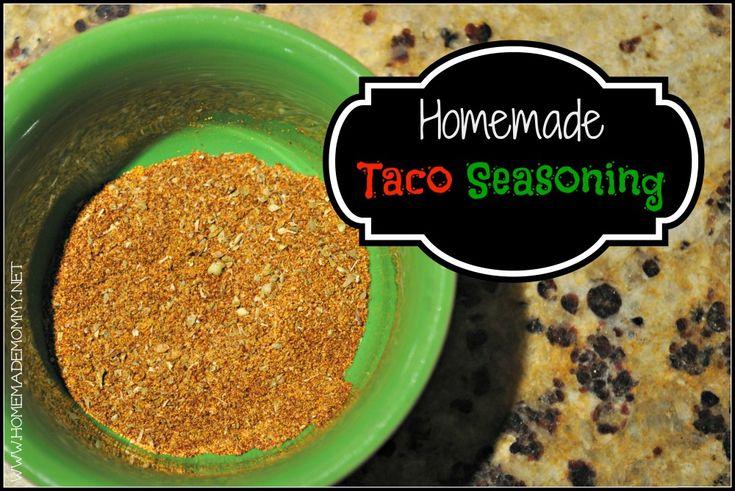 Homemade Taco Seasoning | Organic Options/Non-GMO | Pinterest
