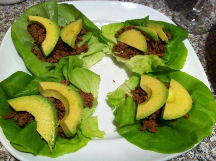 Ground Turkey taco lettuce wraps | Mmm | Pinterest