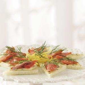 Smoked Salmon Tea Sandwiches- Perfect for a get-together with friends ...
