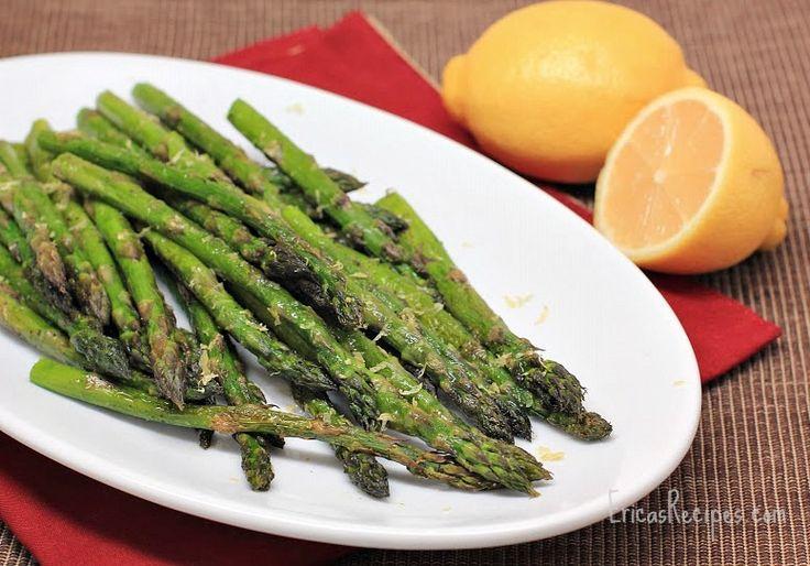 Simple Roast Asparagus with Lemon | Recipes | Pinterest
