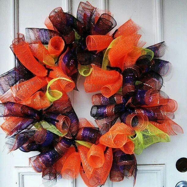 Halloween Wreath Diy Holidays Pinterest