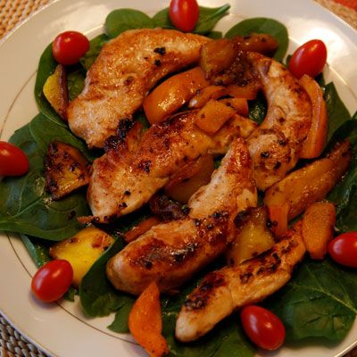 Pan-fried Mango chicken from the kitchen of The Cowboy Cook, Jeff ...