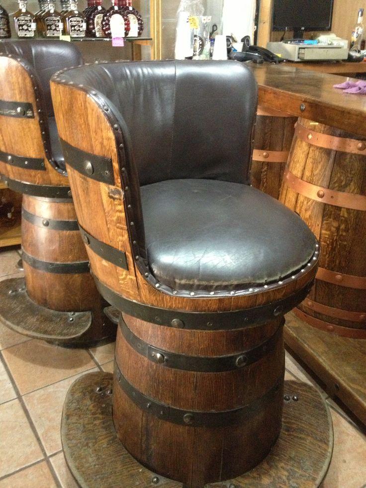 Bar Stools Made From Wine Barrels Barrels Of Fun
