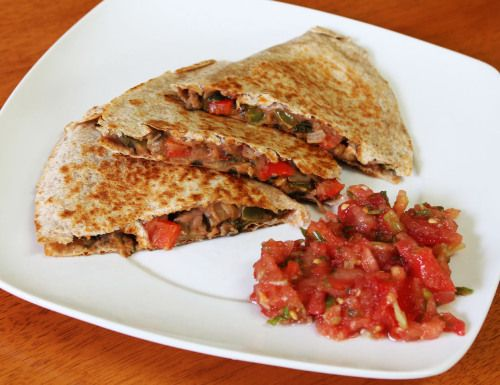 Vegetable and Refried Bean Quesadillas | ~*Compassionate Fuel*~ | Pin ...
