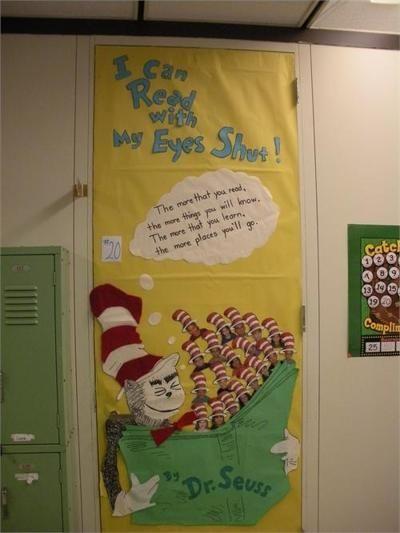 Dr seuss door decorations door dr seuss pinterest