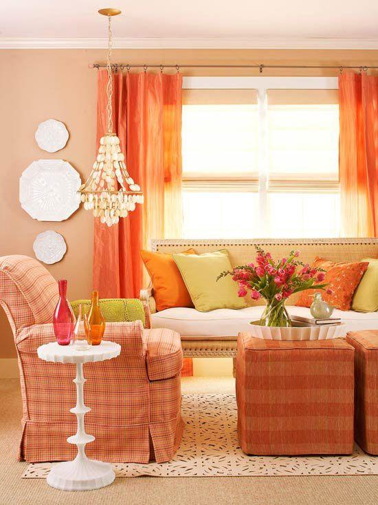 Warm color schemes for Warm color palette for living room