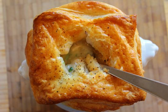Not-Your-Childhood Chicken Potpie (individual servings)