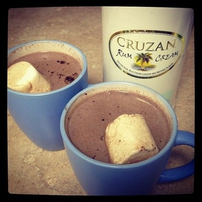 white chocolate hot cocoa with coconut and rum white chocolate hot ...