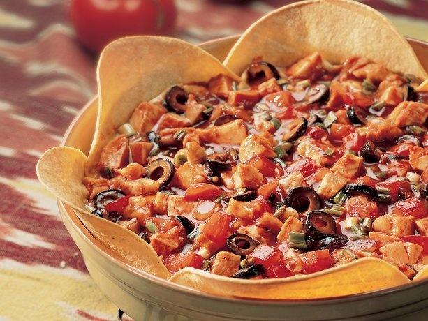 Bean and Chicken Tortilla Pie | Recipe