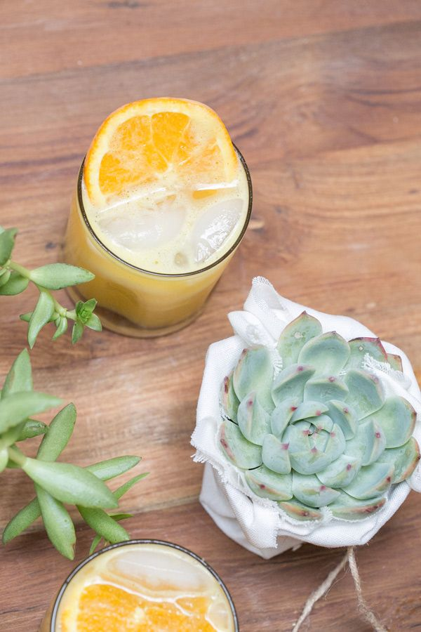 Tropical Ginger Spiked Punch - Sugar and Charm