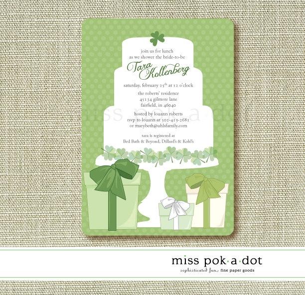 Digital Download St. Patrick Irish bridal shower invitation