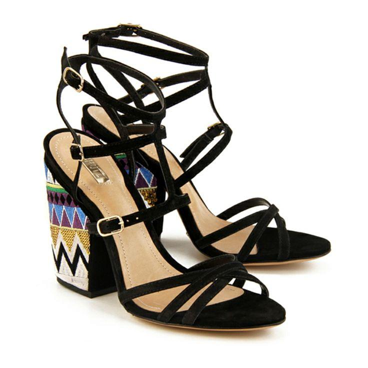 schutz shoes #black #ethnic