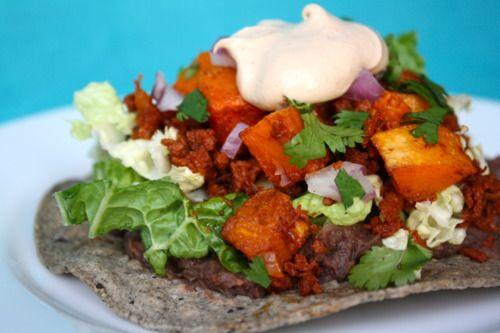 Butternut Squash & Soyrizo Tostadas | Vegan Mexican Food | Pinterest