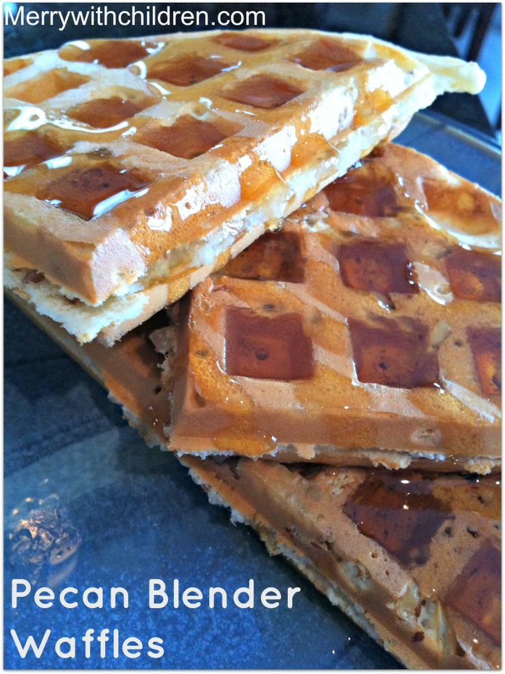 Pecan Blender Waffles 4 star - very good waffle. I added cinnamon and ...