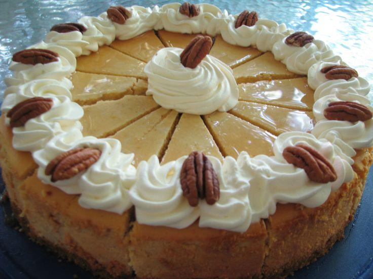 Maple Pumpkin Cheesecake   Thanksgiving   Pinterest