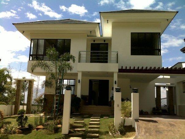 Modern asian house exterior designs car porch and gate for Japanese exterior design