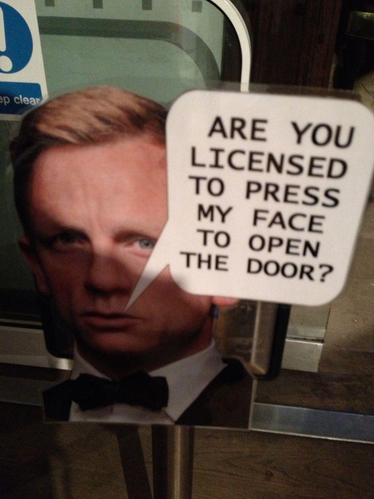 Funny James Bond Sign   Weird and Wonderful   Pinterest Jamesbond