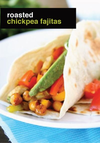 ... being healthy on the food front – Roasted Chickpea Fajitas Recipe