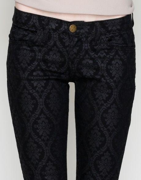 baroque black pants