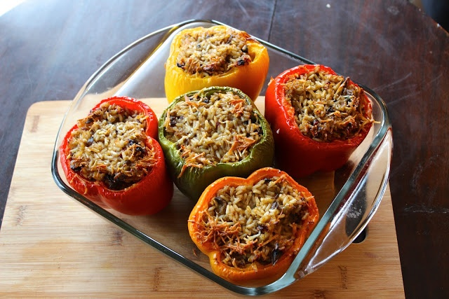 Portobello & Brown Rice Stuffed Bell Peppers | The Doctor's Daughter ...